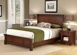 bedroom rustic nightstands with standing lamp and brown wooden
