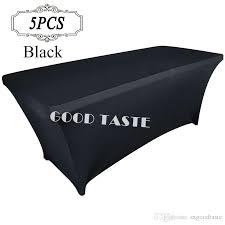 elastic tablecloths for rectangular tables spandex rectangular fitted tablecloth for wedding party banquet
