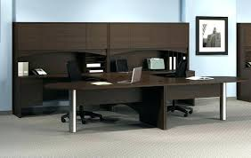 T Shaped Desk Dual Workstation Desk T Shaped Desk For Two Amusing Dual