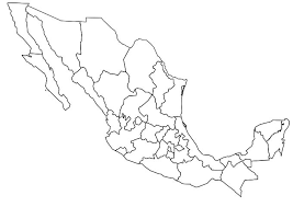 map of mexico with states visited mexico map map of mexico with colored states color