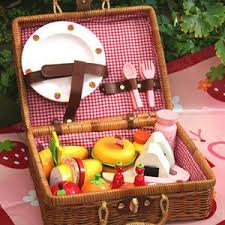 kids picnic basket free shipping wooden toys kids wooden toys baby toys garden