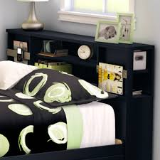 Bowery Queen Storage Bed by Bowery Hill Slant Back Tall Full Queen Bookcase Headboard In Black