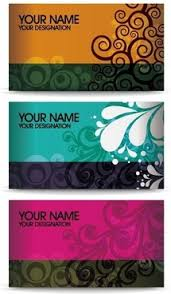 floral business card golden floral business cards vector set free vector in