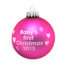 Baby S First Christmas Bauble Pink by Christmas Pink Bauble Baby U0027s First Christmas 2013 Pink Cat Shop