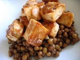 cuisiner tofu fumé recette de salade de lentilles au tofu fumé recettes diététiques
