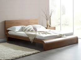 Contemporary Bed Frames Uk Roma Natural Walnut Contemporary Bed Modern Bedroom Furniture
