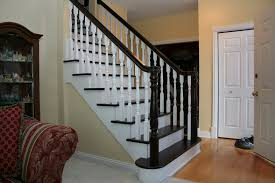 Banister On Stairs Alluring Design Idea Of Cool Staircase With Brown Wooden Treads
