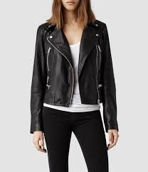 biker jacket women allsaints bleeker leather biker jacket in black lyst