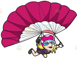 a couple dancing tango cartoon clipart vector toons a lady skydiver controlling her parachute parachutes