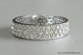 wedding rings nz pave diamond wedding band in white gold new zealand