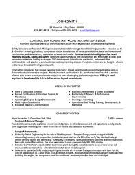 Construction Resume Samples Construction Superintendent Resume Examples And Samples