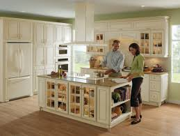 spacious kitchen in ivory with fawn glaze and beige granite