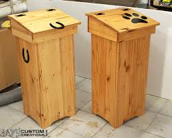 Easy Woodworking Projects Pinterest by Cool Wooden Trash Cans From Jayscustomcreations Com Diy