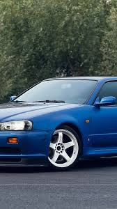nissan skyline iphone 6 wallpaper download 1080x1920 nissan skyline gt r side view blue spoiler