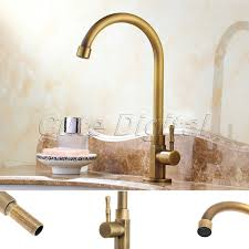 Antique Kitchen Sink Faucets Antique Brass Luxury Bathroom Sink Faucet Single Handle Swivel