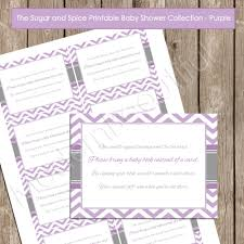 instant download baby shower invitations insert card book instead of a card purple