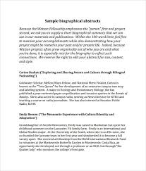 sample biography 6 documents in pdf word