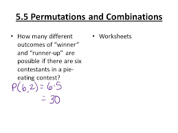 5 5 permutations and combinations when dealing with word problems