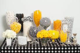 The Candy Buffet by Silver Yellow Black And White Candy Buffet U2014 Candy Buffets