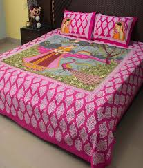 Bed Quilts Online India Ramabhakta Patch Cotton Bed Sheets With 2 Pillow Covers Buy