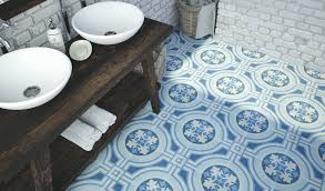 funky bathroom tiles