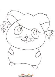 coloriage d u0027un hamster fille dessin 17 sur tête à modeler
