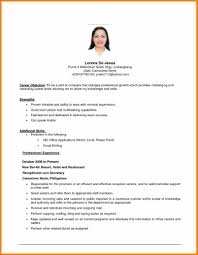 Examples Of Teen Resumes by Download First Resume Objective Haadyaooverbayresort Com