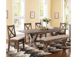 6 Piece Dining Room Sets by New Classic Tuscany Park 6 Piece Trestle Dining Table And
