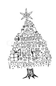 line drawing christmas tree part 34 minimalistic black and