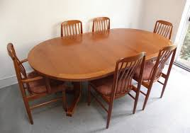 Scandinavian Teak Dining Room Furniture Of Goodly Danish Teak - Danish teak dining room table and chairs