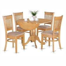 Microfiber Dining Room Chairs East West Furniture Dublin 5 Piece Drop Leaf Dining Table Set With