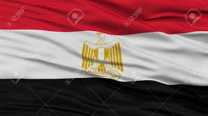 Flag Egypt Closeup Egypt Flag Waving In The Wind High Resolution Stock