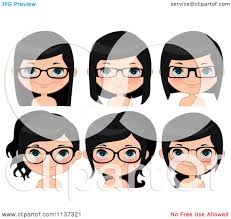 glasses clipart cartoon of faces of a happy wearing glasses royalty free