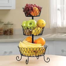 metal fruit basket kimball black tiered fruit basket walmart