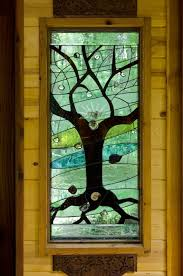 170 best stained glass trees images on mosaics fused