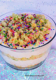 birthday cake trifle gf