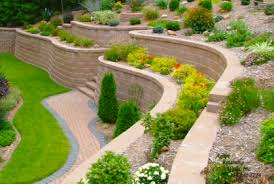 Front Yard Retaining Walls Landscaping Ideas - landscape design ideas for sloped front yard