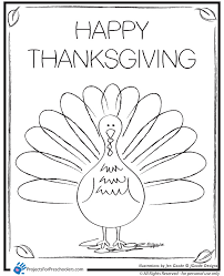 happy thanksgiving turkey coloring pages getcoloringpages