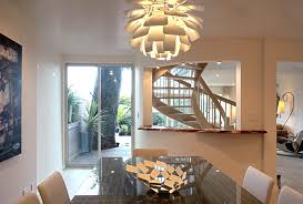 artichoke light fixture dining room contemporary with chandelier