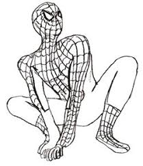 draw spider man draw step step