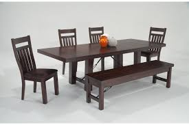 bobs furniture kitchen table set mesa 6 dining set with storage bench bob s discount furniture