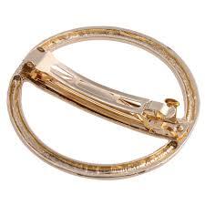 barrette hair clip fashion plain barrette gold metal circle barrette hair clip