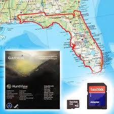 florida topo map garmin huntview map card florida 79 99