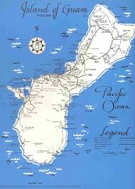 World Map 1950 Detailed Old Road Map Of Guam 1950 Guam Detailed Old Road Map Of