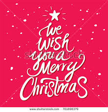 we wish you merry text stock vector 761898379