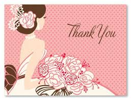 what do you put on a bridal shower registry what to write in a thank you card for bridal shower