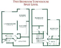 2 bedroom townhouse floor plan for rent at willow pond townhouses