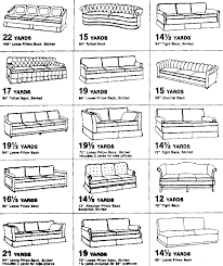 How Much Fabric To Upholster A Sofa Yardage Charts For Couches Diy U0026 Crafts Pinterest Furniture