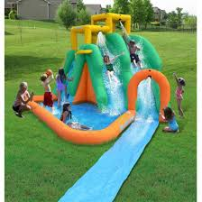 Water Slide Backyard by Inflatable Bouncer Jumper Water Slide Backyard Splash Pool Fun