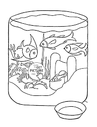 pet fish coloring page for kids animal coloring pages printables